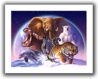 Art Wall Jerry Lofaro 'Wild World' Unwrapped Flat Canvas Artwork, 18 by 22-Inch