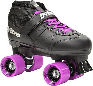 (youth 1) - epic skates super nitro quad speed skates, black/purple, youth 1