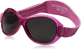 baby banz 婴幼儿防紫外线太阳镜蛤蟆镜系列 复古粉红色 2-5岁