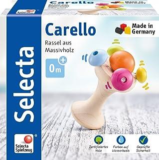 Selecta 61061 Carello木质手柄手柄手柄,12 厘米,多色