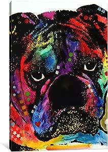 "iCanvasART Bulldog Canvas Print by Dean Russo, 26"" x 18""/1.5"" Deep"