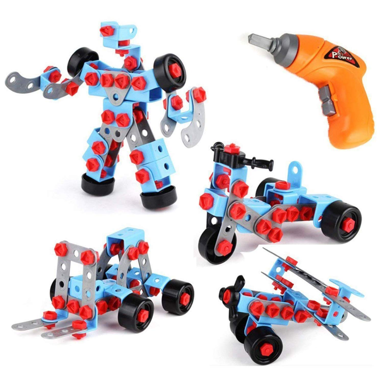 Educational Take apart 儿童玩具 - Stem 学习建筑工具工程电动玩具钻孔 - 男孩和女孩积木套装玩具 - AGES 3-12 岁儿童好礼