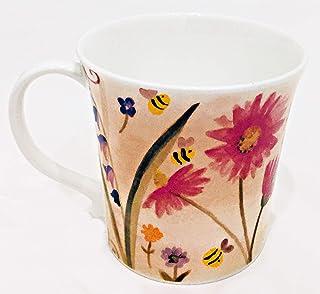 Rose of England 出品的夏季花卉大黄蜂精美骨瓷咖啡杯