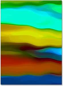 Trademark Fine Art 'River Runs Through Vertical 2.54 cm 画廊包边帆布艺术 Amy Vangsgard 出品 24x32 AV0169-C2432GG