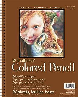 "Pro-Art 30 Sheets Strathmore 彩色铅笔螺旋纹画本,9x12"""