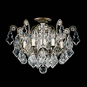Schonbek 2784-23 施华洛世奇照明凡尔赛平安装照明灯具,Etruscan 金色 需配变压器