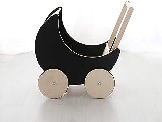 ooh noo(欧诺) 手压车 玩具模型 木制玩具 室内装饰 手工制作 黑色