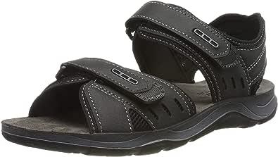 Fischer 男士徒步沙滩封闭凉鞋 黑色(黑色 90) 45 EU