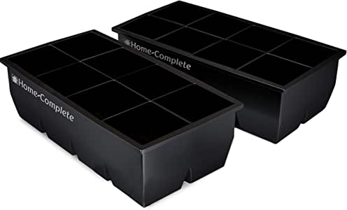Best Ice Cube 托盘 - 2 个大型硅胶包 - 16 个巨大的 2 英寸冰块