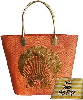 Coastline Sea Shell 手提袋,带小旅行袋