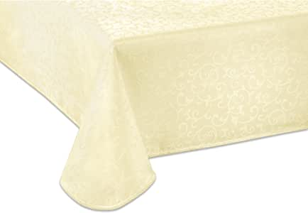 Lenox Opal Innocence 60-by-120-Inch Oblong / Rectangle Tablecloth, Ivory