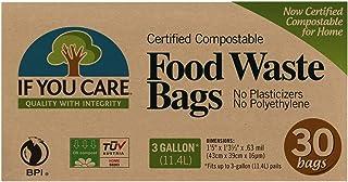 If You Care - 被证明的Compostable食品废弃部袋子 - 30袋