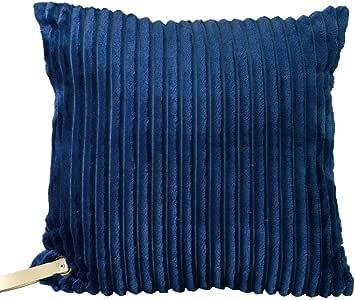 enrich 灯芯绒坐垫 藏青色 45×45cm SRLH2041NY