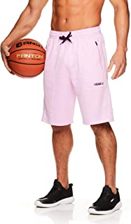 AND1 男士篮球健身跑步短裤,带弹性抽绳腰带和口袋