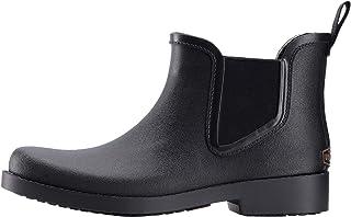 UNICARE 踝靴女式短款切尔西防水橡胶靴防滑雨鞋手工制作