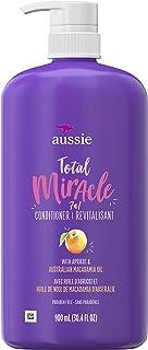 Aussie Total Miracle 护发素 针对受损发质-不含苯甲酸酯类,含杏仁,30.4液体盎司/900毫升/每瓶(4件)