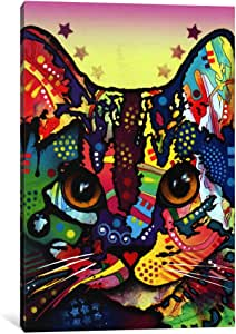 "iCanvasART Maya Cat Canvas Print by Dean Russo, 12"" x 8""/0.75"" Deep"