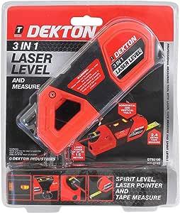 DEKTON DT55190 3 合 1 激光水平,带测量仪,240 伏,黑色/红色