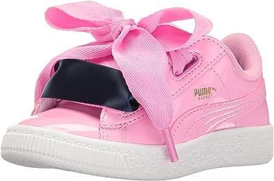 PUMA 彪马 儿童 Basket Heart Patent 运动鞋 Prism Pink-prism Pink 2 Little Kid