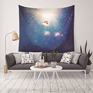 Vocktops 星空挂毯,家庭 3D 宇宙银河挂毯,客厅卧室装饰挂毯,床垫,桌布 Starry Star7 L(59x79inches)