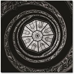 Trademark Fine Art The Bramante Staircase Erik Brede 出品 18x18 EB00114-C1818GG