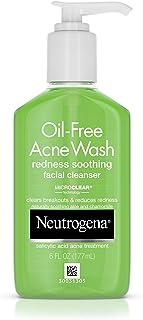 Neutrogena 露得清 无油洁面乳,含有水杨酸,芦荟和洋甘菊的舒缓洗面奶,可减少面部发红的现象,6液体盎司,177毫升