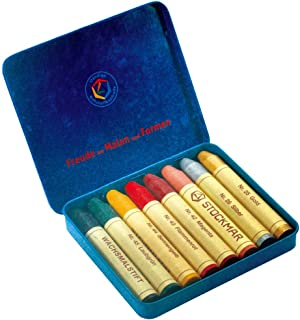 Sut Kumame 蜜蜡笔 蜡笔 8色 罐装 艺术颜色 ST32122 [日本正品]