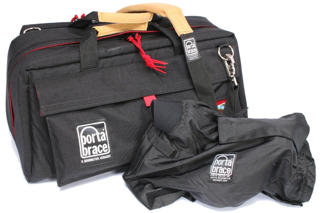 Portabrace CS-DV4RQS-M4ミニDVカメラケース(黒/赤)