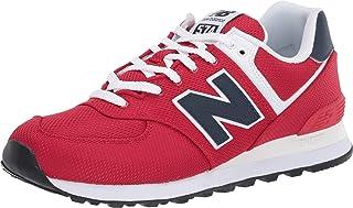 New Balance 女士 Iconic 574 V2 运动鞋 Team Red/Natural Indigo 7 M US