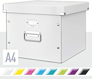 LEITZ 利市 Click&Store 附盖A4吊挂文件储物盒 白 60460001
