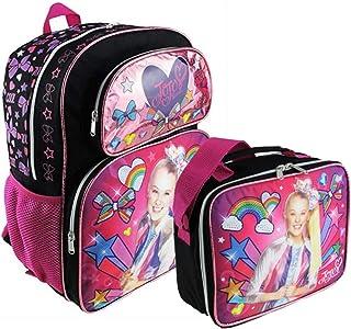 "JoJo Siwa ""彩色蝴蝶结""全尺寸 16 英寸背包,带配套保温午餐盒"