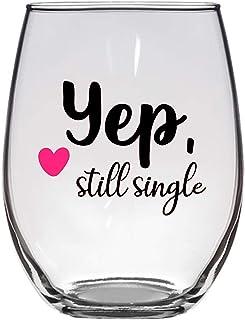 Yep, Still 单瓶酒杯,53.34 克,趣味情人节酒杯,分离式酒杯