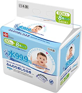LEC 柔軟廁紙 水99.9% 640片(80片×8)