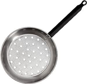 La Valenciana 26 厘米抛光钢制单手柄栗色烤盘,黑色_Parent 银色 28 cm 331