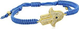 Tai Silk and Gold-Plated Hamsa Bracelet