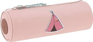 LÄSSIG 铅笔盒子铅笔盒学校儿童/学校铅笔盒,冒险 Altrosa 22 cm