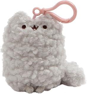 GUND Pusheen's Little Sister Stormy 猫毛绒填充动物背包夹,灰色,12.7 cm