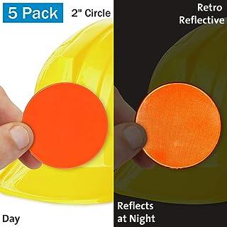 SmartSign 荧光橙复古反光硬质帽子标签 | 5.08 厘米圆圈,10 件装