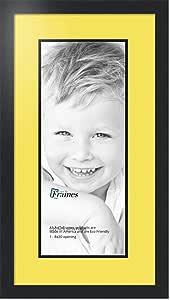 Art to Frames 双-多衬垫-667-47R/89-FRBW26079 拼贴照片框双衬垫带 1-8x20 开口和缎面黑色边框
