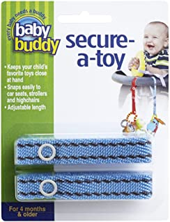 Baby Buddy Secure-A-Toy 2ct 玩具挂件 [対象] 0ヶ月 ~ ステッチ ブルー/ブラウン