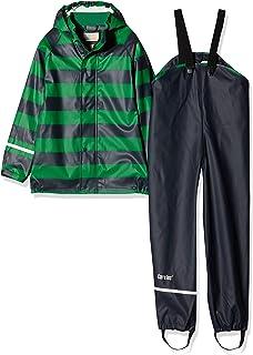 caretec 儿童一套防水 rainjacket & 裤子,