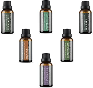 Aromatherapy Oils 100% Pure Therapeutic Grade Basic Essential Oil Gift Set by Wasserstein (Top 6, 30ml)