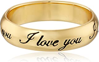 "Plated Sterling Silver""I Love You"" Ring"