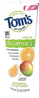 Toms Of Maine 儿童防蛀牙膏橘子芒果味,5.1 盎司