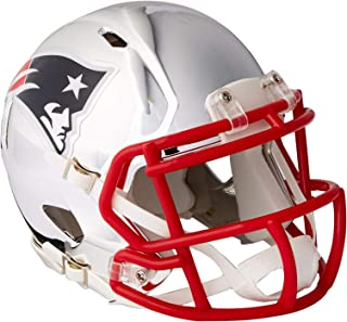 YTIABNFLMS-PATRIOTS2018CHROME 95855607252 Riddell Speed NFL 新款天地爱国足球头盔镀铬迷你