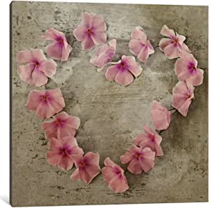 iCanvasART 14185-1PC6-12x12 Roseheart Pink Canvas Print by Symposium Design, 1.5 by 12 by 12-Inch