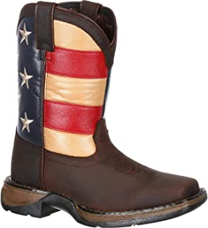 Durango 中性 DBT0159 西部靴,棕色/英国国旗,12.5 M US Little Kid