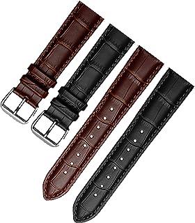 (两件装)快速释放真皮表带 黑色/棕色