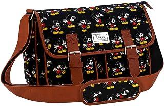 迪士尼经典米奇运动邮差包,34cm ,黑色( negro )