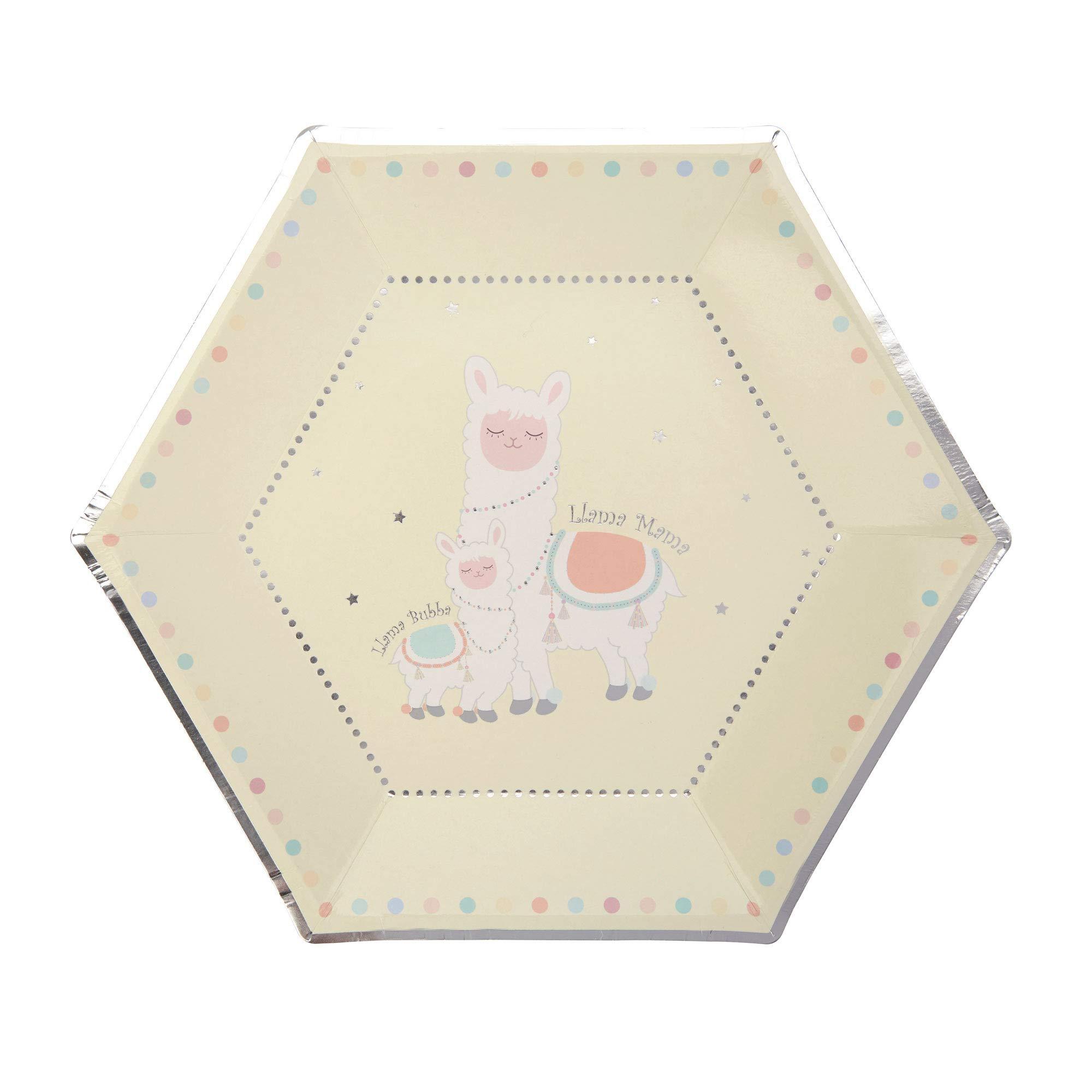 Neviti 776278 Llama Love-Large 纸板 -8 件装,彩色,27 x 27 x 0.5
